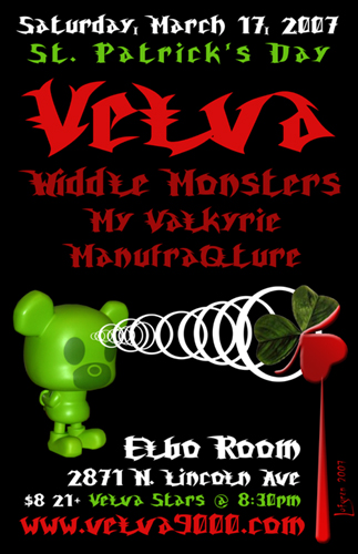 DREAMDAZE performs with Velva at the Elbo Room