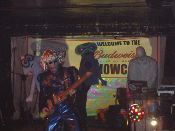 DJ Dazed of DREAMDAZE and Cybernaut perform as a members of Velva at the Underground Lounge