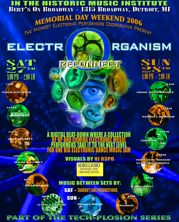 Bert's On Broadway (Detroit) ElectrOrganism Event with DREAMDAZE